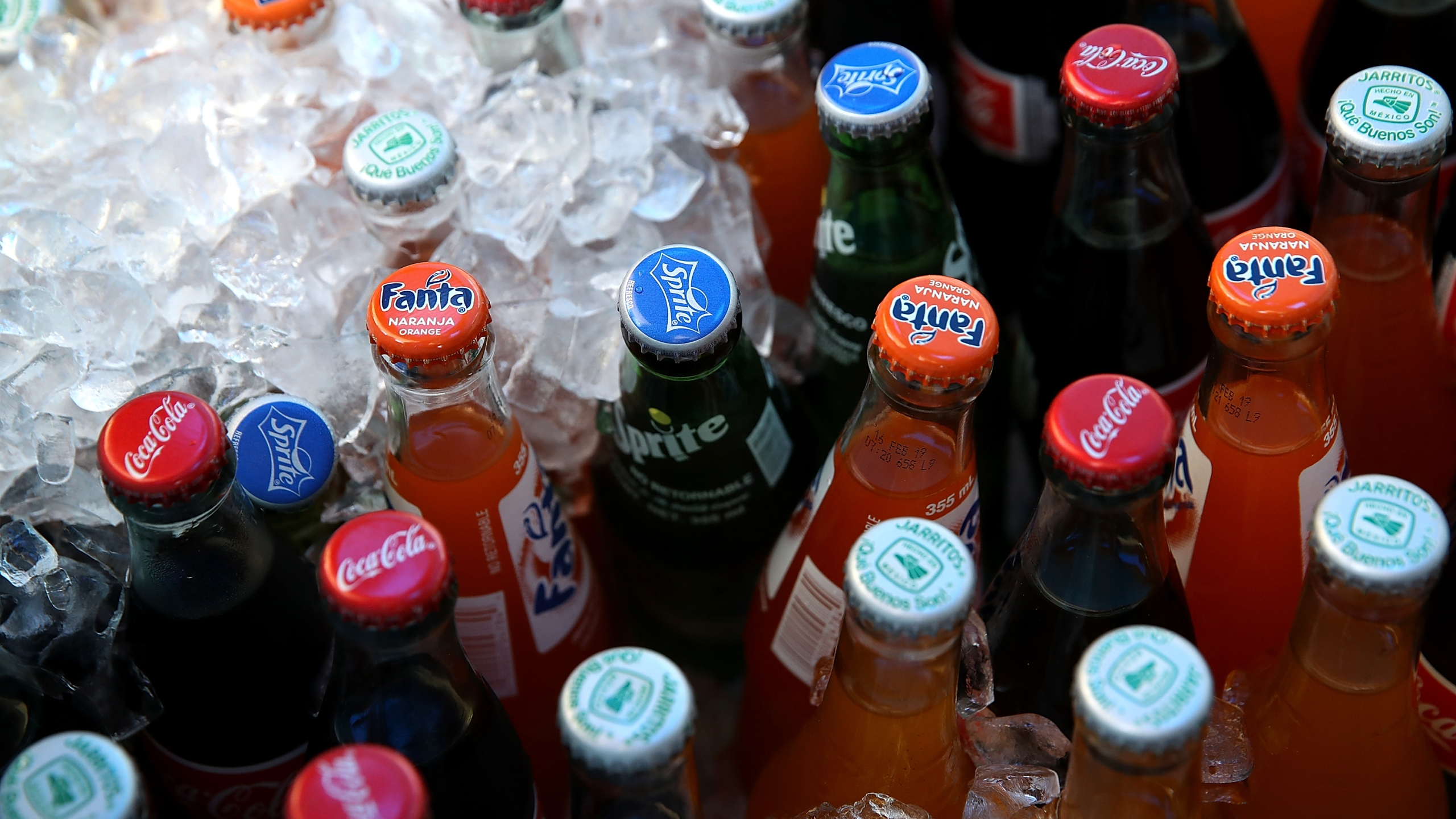 Bottles of soda are seen in a cooler on June 29, 2018, in San Francisco. (Credit: Justin Sullivan/Getty Images)