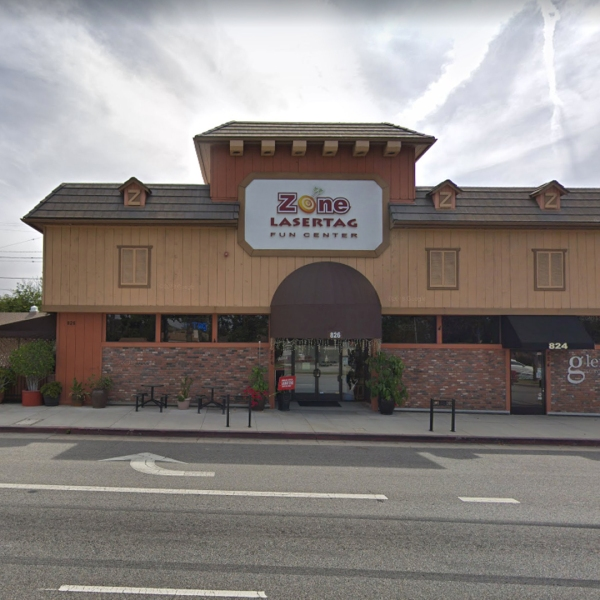 The Zone Lasertag Fun Center, 826 N. Glendale Ave., as pictured in a Google Street View image in April of 2019.