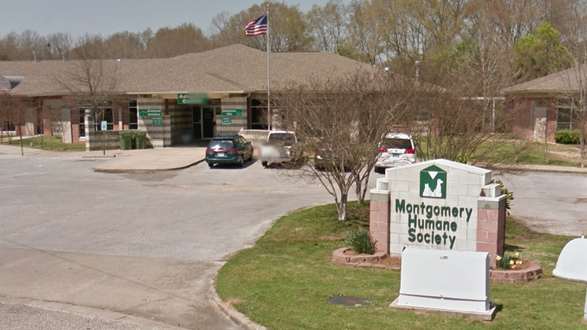 The Montgomery Humane Society is seen in a Google Maps image.