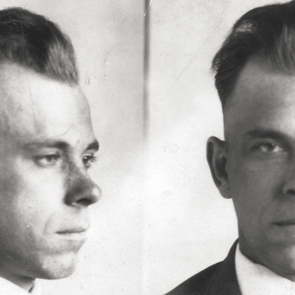 John Dillinger is seen in photos from the FBI.