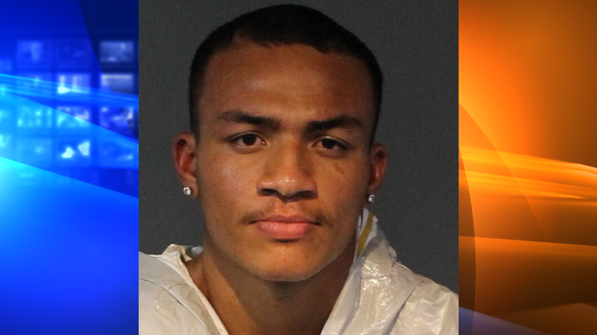 Tevin Johnson is seen in a booking photo released by the Washoe County Sheriff's Office.