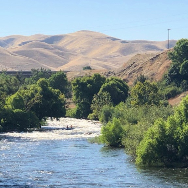 The Kern River is seen in a photo released by the Kern County Sheriff's Office.