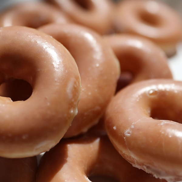 Krispy Kreme doughnuts are seen in this file photo. (Credit: Joe Raedle/Getty Images)