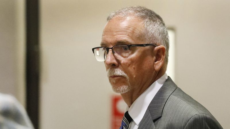 Dr. James Heaps, a former UCLA Health gynecologist, appears at the Airport Courthouse in Del Aire on June 11, 2019. (Credit: Al Seib / Los Angeles Times)