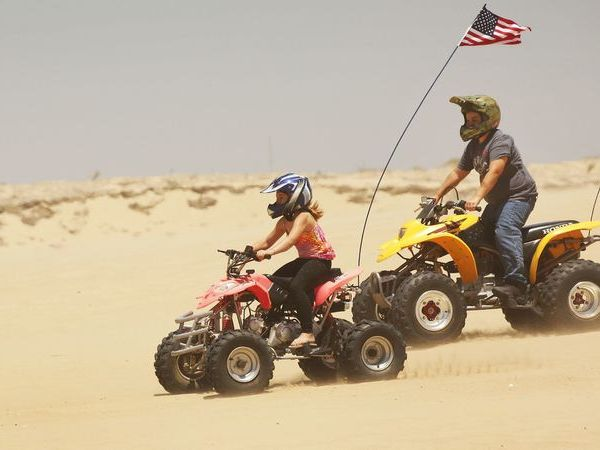 Off-roaders are seen at Oceano Dunes in an undated photo. (Credit: Al Seib / Los Angeles Times)