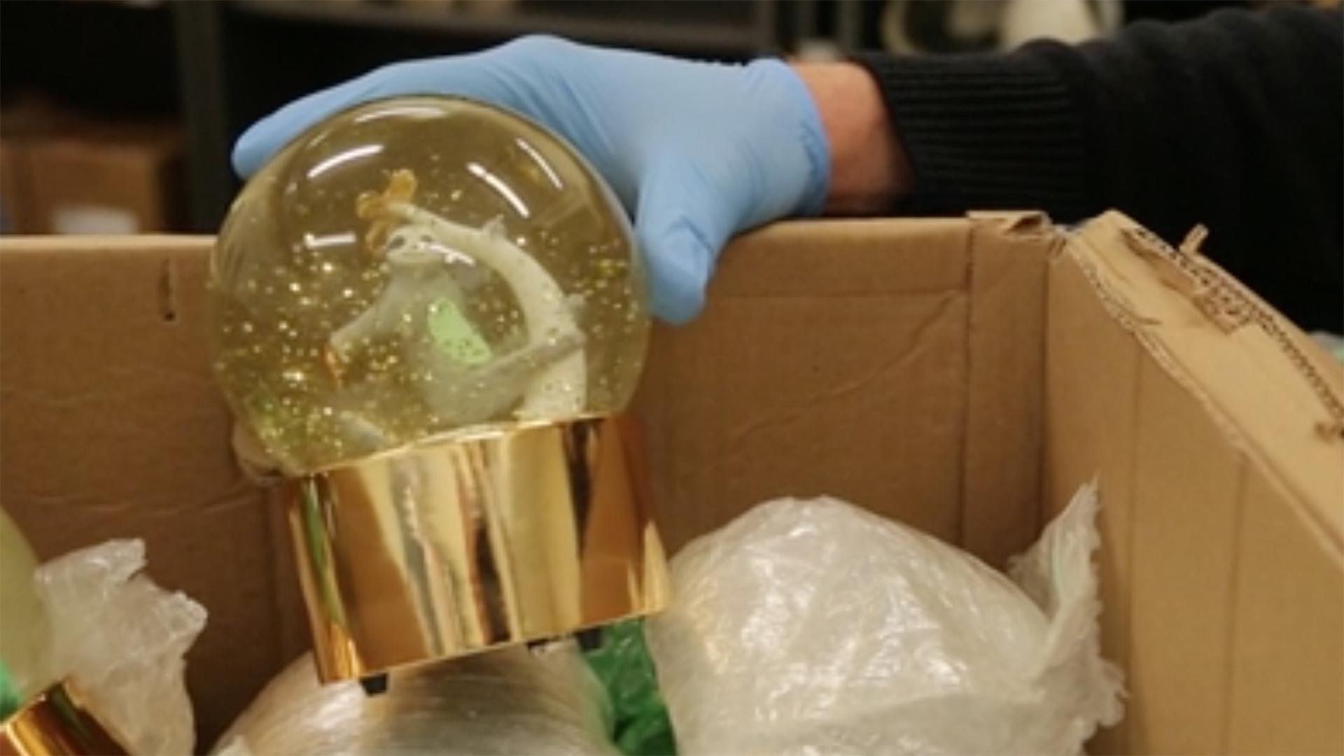 The liquid methamphetamine totaled more than 7 liters, officials said. (Credit: Australian Border Force)