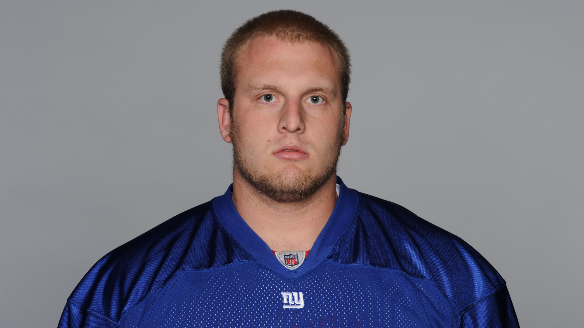 Mitch Petrus is seen in a 2010 New York Giants team photo. (Credit: AP via Getty Images)