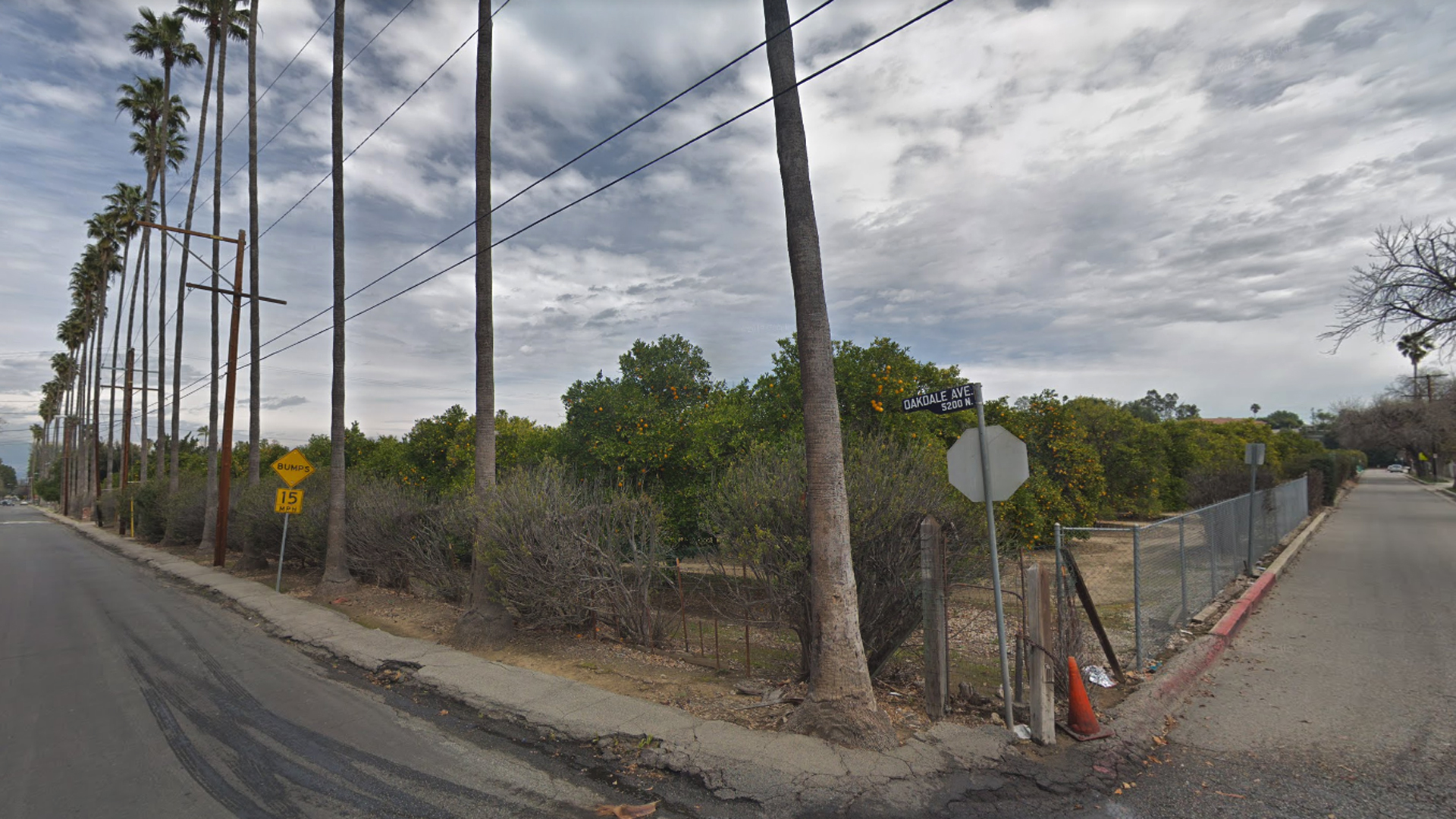 Bothwell Ranch along Oakdale Avenue, on the border of Tarzana and Woodland Hills, is seen in a Google Maps Street View image from March 2019.