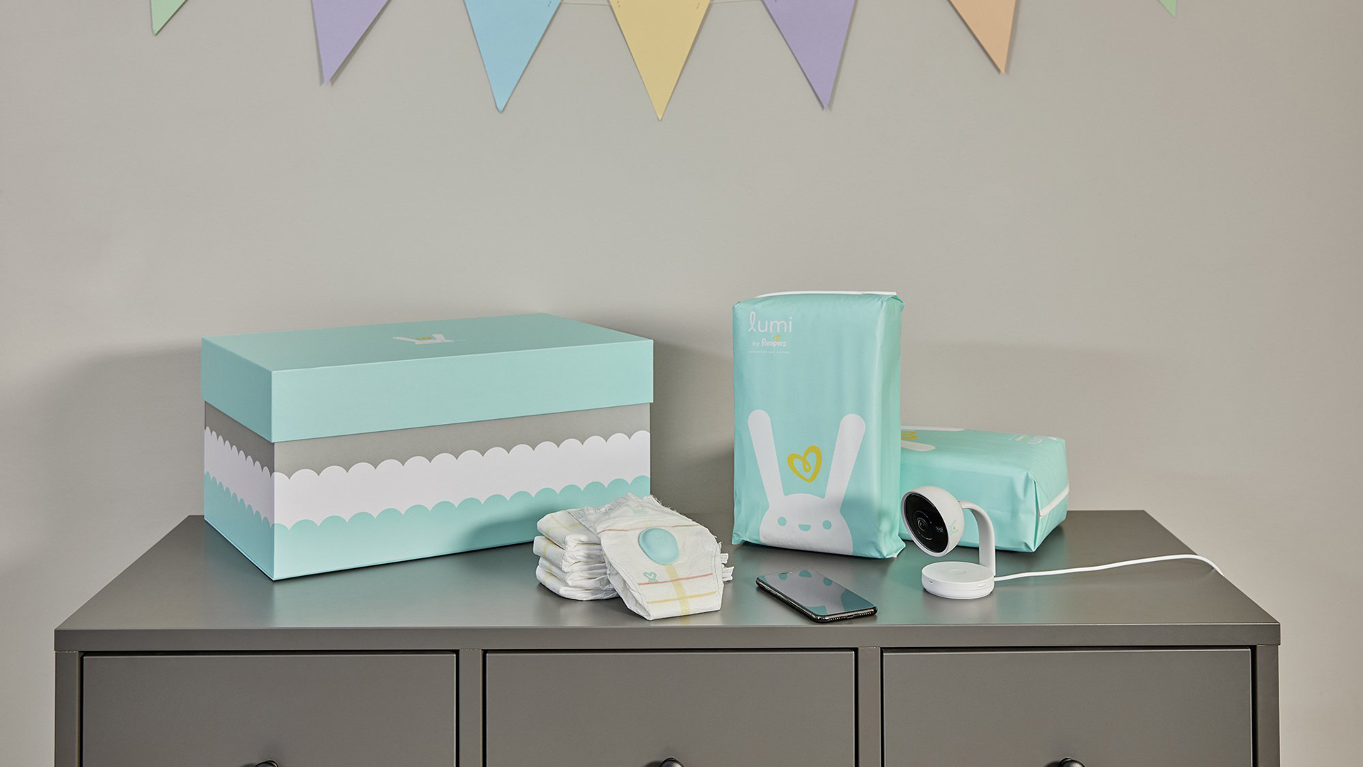 The Lumi by Pampers line is seen in an image from Pampers.
