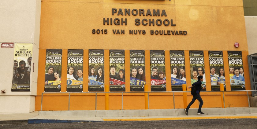 Panorama High School is seen in an undated photo. (Credit: Al Seib / Los Angeles Times)