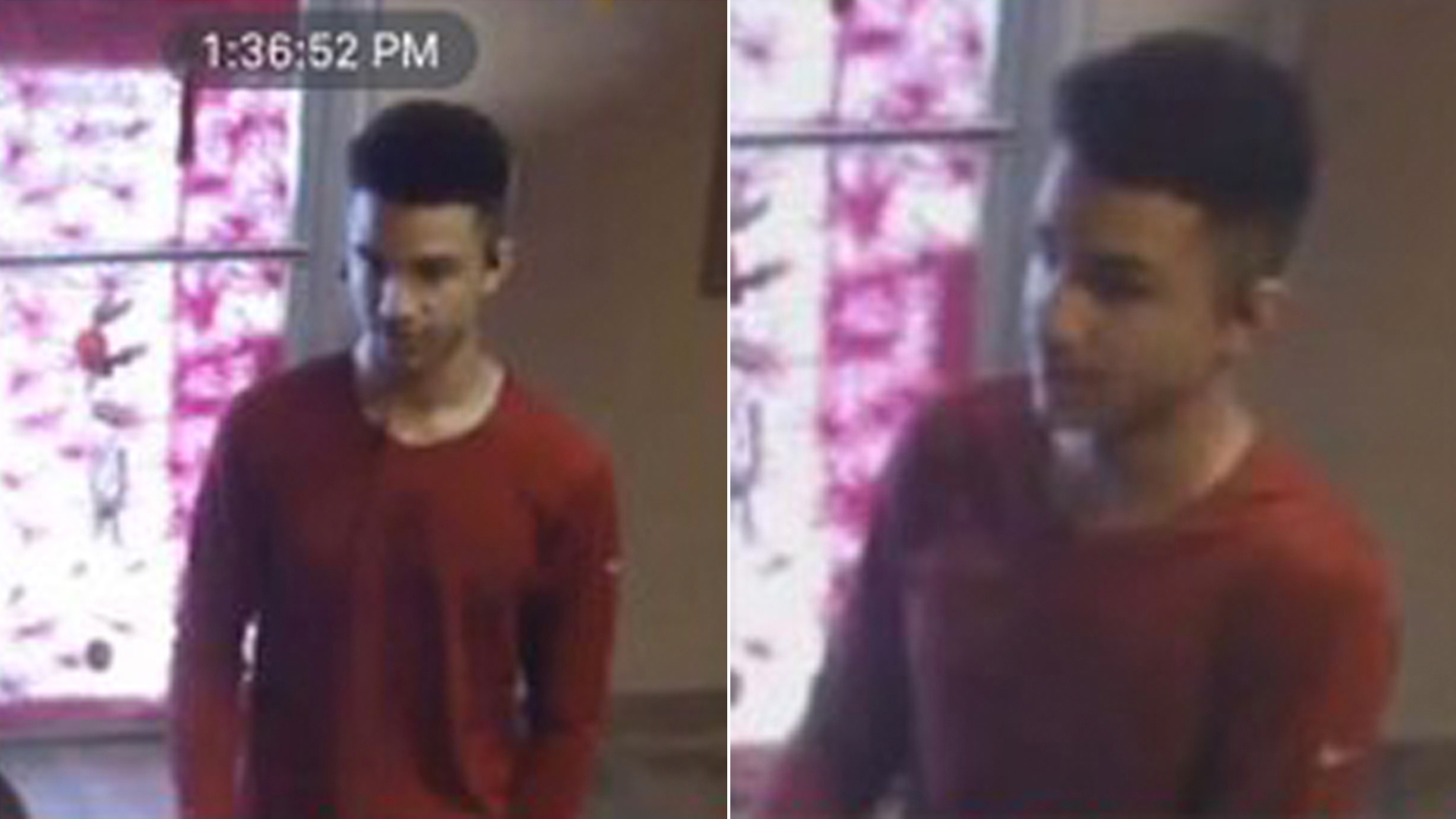 Detectives are seeking the man pictured in this surveillance image in connection with the robbery of a Newhall massage parlor on June 27, 2019. (Credit: Los Angeles County Sheriff's Department)
