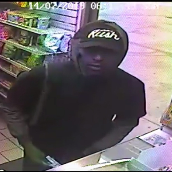 LAPD officials released video of a robbery in the Fairfax District of Los Angeles that occurred on July 15, 2019.