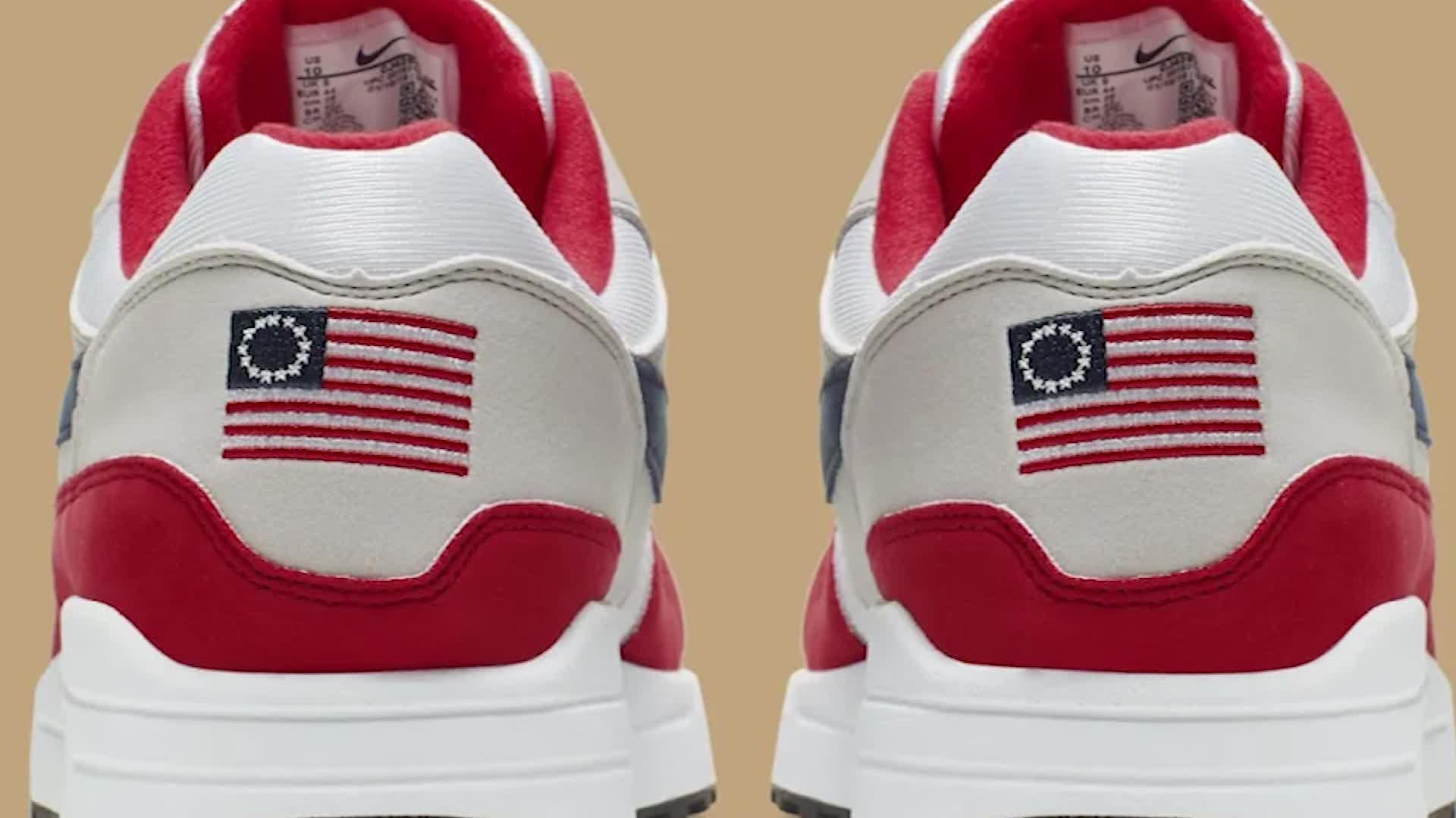 Nike is canceling a sneaker that featured a version of the American flag from the late 18th century. (Credit: Nike)