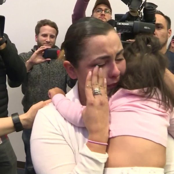 Migrant cries after being separated at the border in an undated photo. (Credit: CNN)