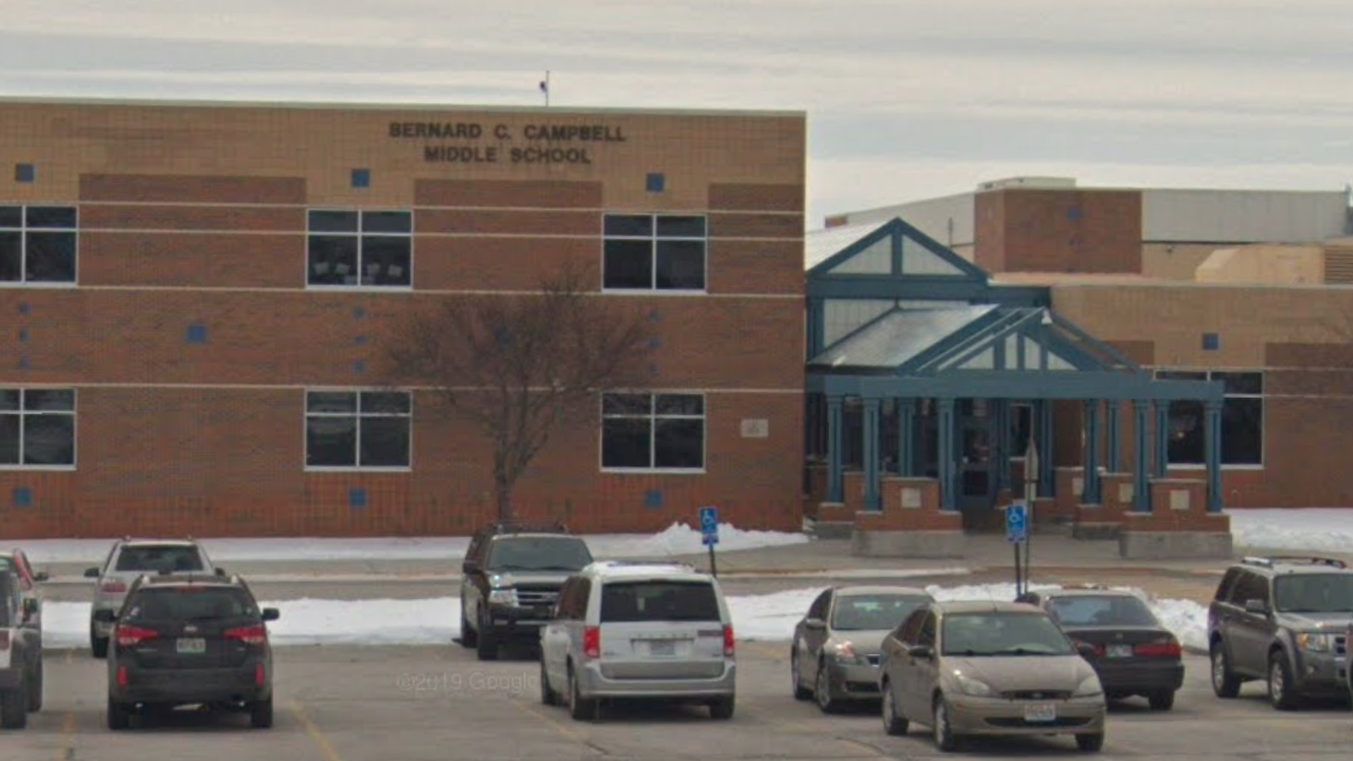 Bernard Campbell Middle School in Kansas City, Missouri, is seen in a Google Maps image.