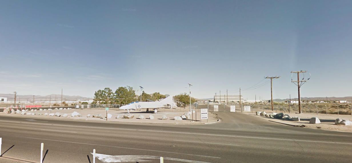 The area outside the Naval Air Weapons Station China Lake in Ridgecrest is seen in a Google Maps Street View image on July 6, 2019.