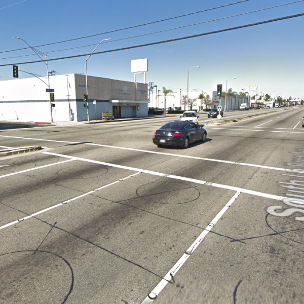 The intersection of La Brea Avenue and Hardy Street in Inglewood is seen in this image from Google Maps.