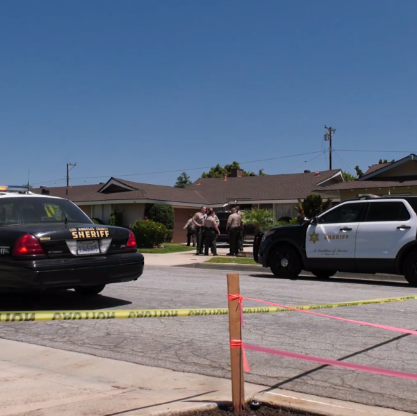 Deputies respond to a stabbing at a home in South Whittier on July 20, 2019. (Credit: Onscene.Tv)