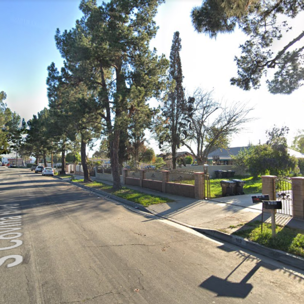 The 200 block of Covina Boulevard in the unincorporated Bassett community near La Puente is seen in a Google Maps Street View image.