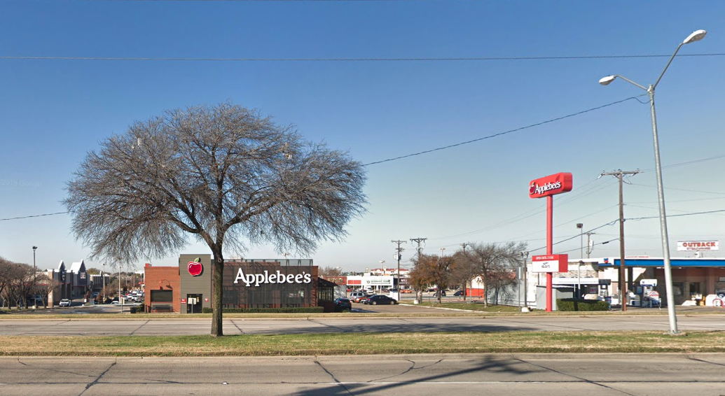 An Applebee's restaurant in Irving, Texas is seen in a Google Maps image.