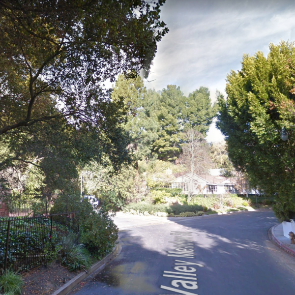 The area of the 3700 block of N. Valley Meadow Road in Encino is seen in a Google Maps Street View image on July 30, 2019.