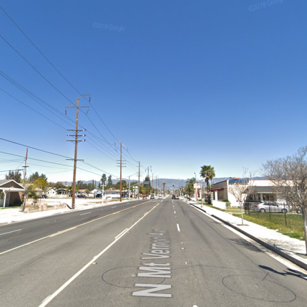 The 400 block of North Mt. Vernon Avenue in Colton is seen in a Google Maps Street View image on July 30, 2019.