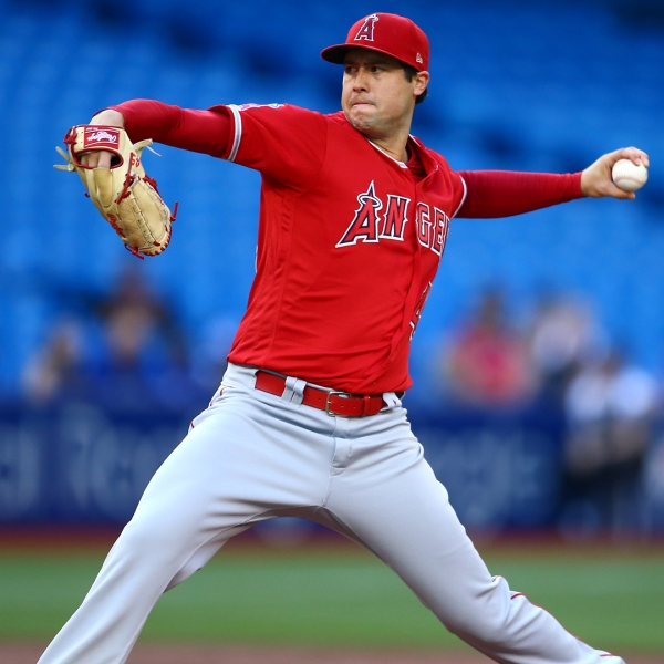 Tyler Skaggs of the Los Angeles Angels of Anaheim delivers a pitch in the first inning during a MLB game against the Toronto Blue Jays at Rogers Centre on June 18, 2019 in Toronto, Canada. (Credit: Vaughn Ridley/Getty Images)