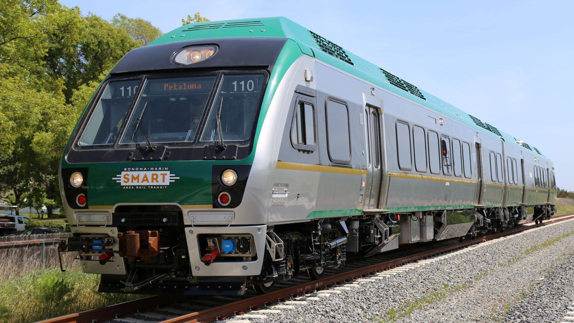 A SMART train is seen in a photo posted to the Sonoma-Marin Area Rail Transit's Facebook page.