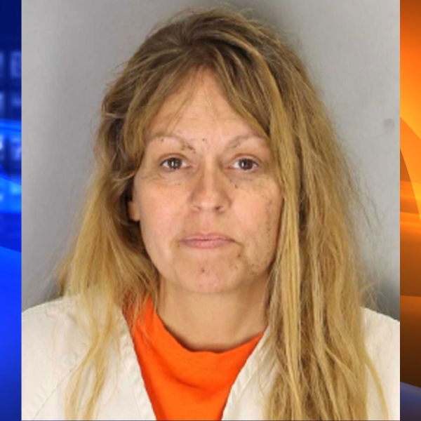 Sherri Telnas is seen in a booking photo released by the Tulare County Sheriff's Office and obtained by KTLA sister station KTXL in Sacramento.