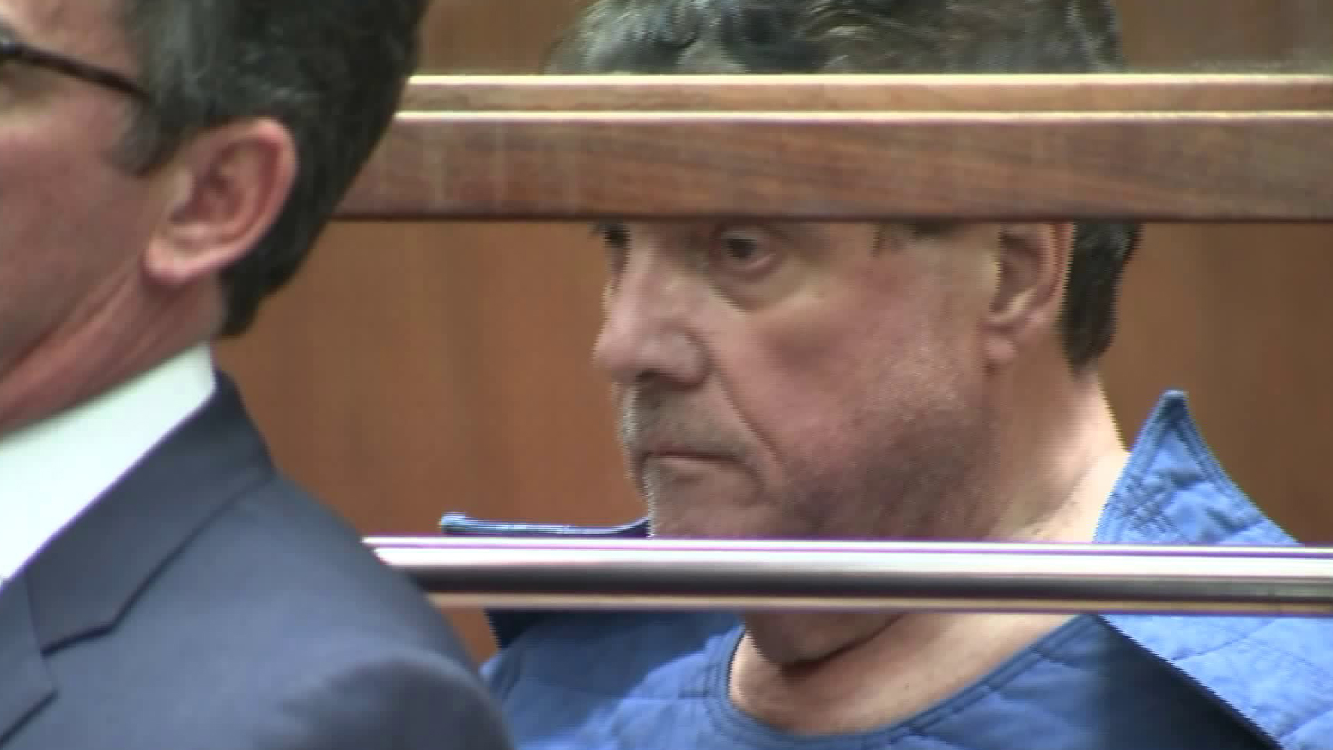 George Tyndall, the former USC gynecologist accused of sexually abusing several patients, appears in Los Angeles Superior Court on July 1, 2019. (Credit: KTLA)
