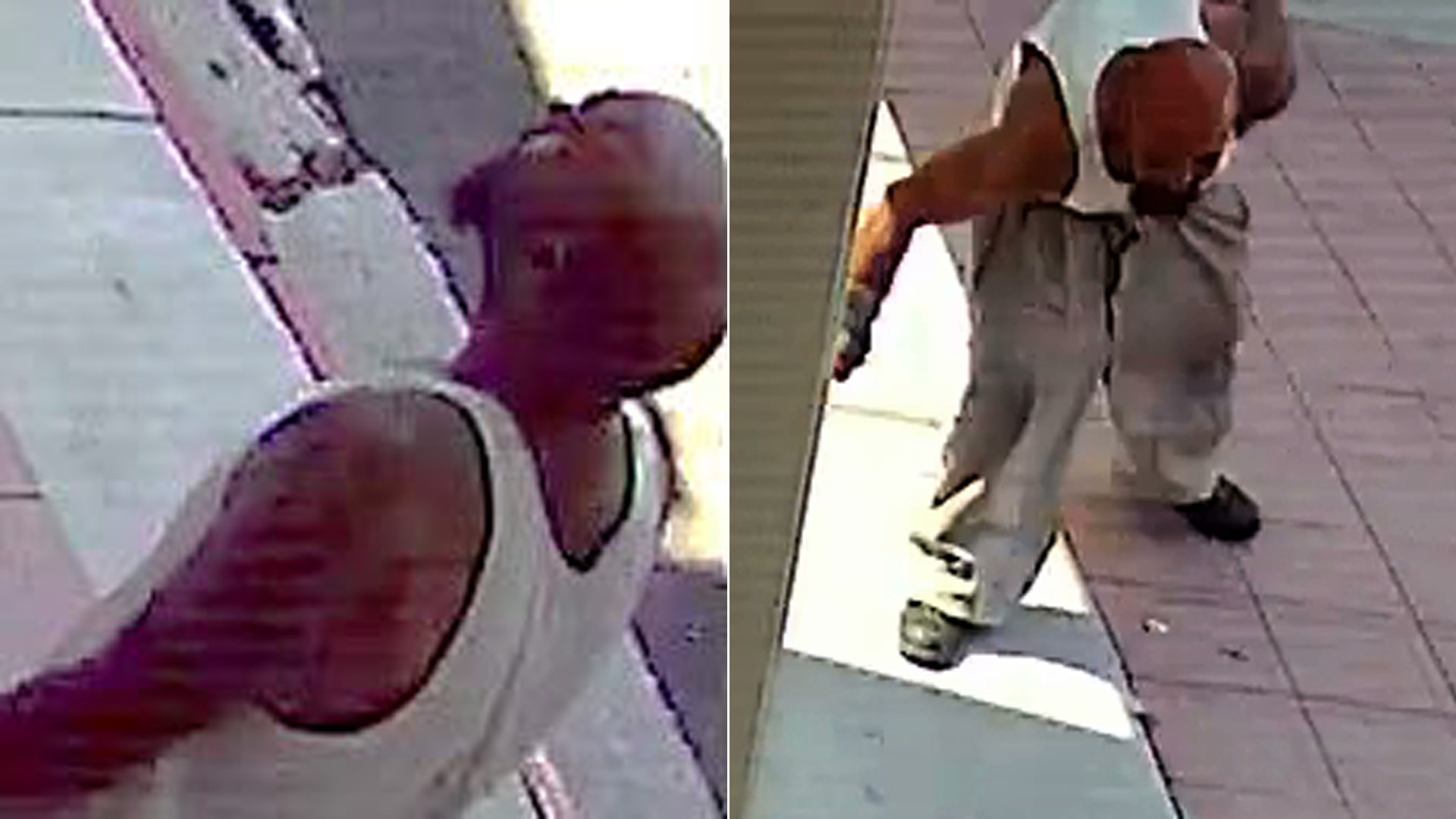 The man accused in a sex assault attempt near the UCLA campus is seen in stills from surveillance video released July 23, 2019, by the UCLA Police Department.