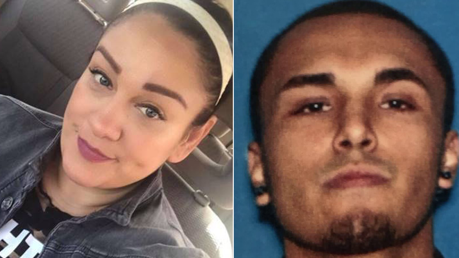 On the right, Azucena Lepe, 45, is seen in a photo posted to Facebook, and Gerry Zaragoza is seen in an image released by the Los Angeles Police Department.