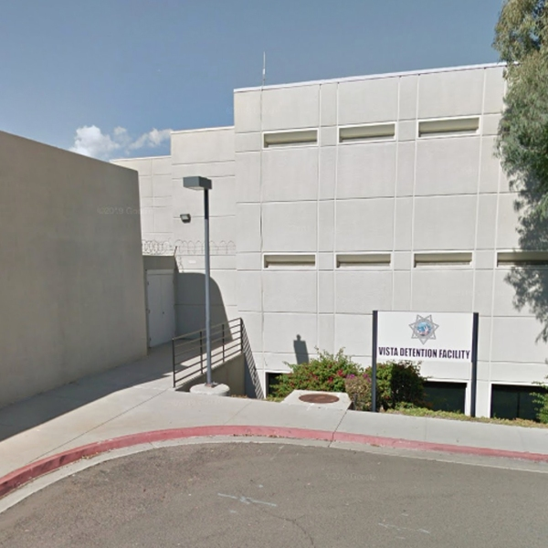 The Vista Detention Facility, where inmate David Collins suffered a serious brain injury, is seen in a Google Maps image.
