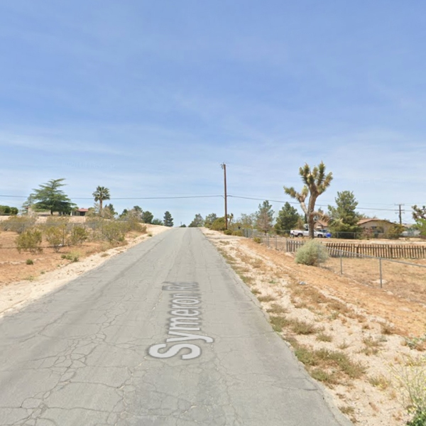 The 19000 block of Symeron Road in Apple Valley is shown in a Google Maps Street View image.