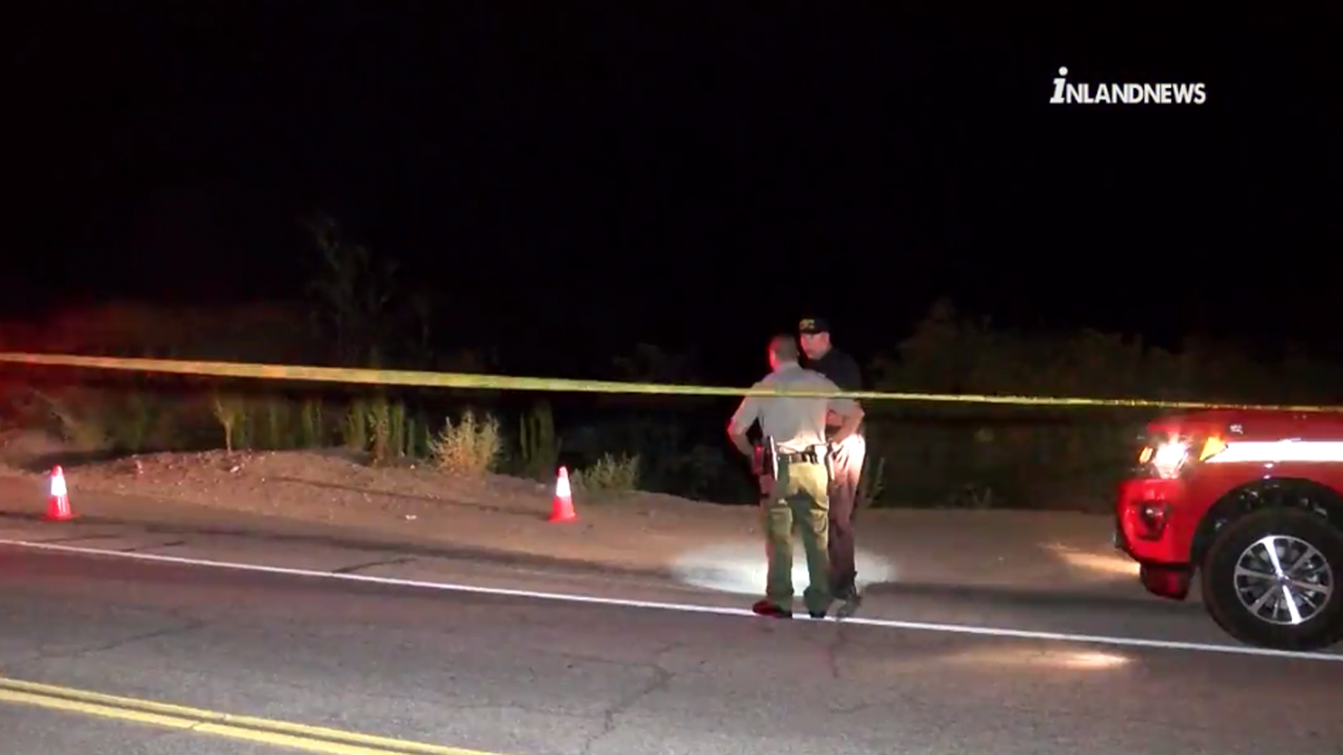 Officials investigate the discovery of a body in the Upland area on Aug. 23, 2019. (Credit: Inland News)