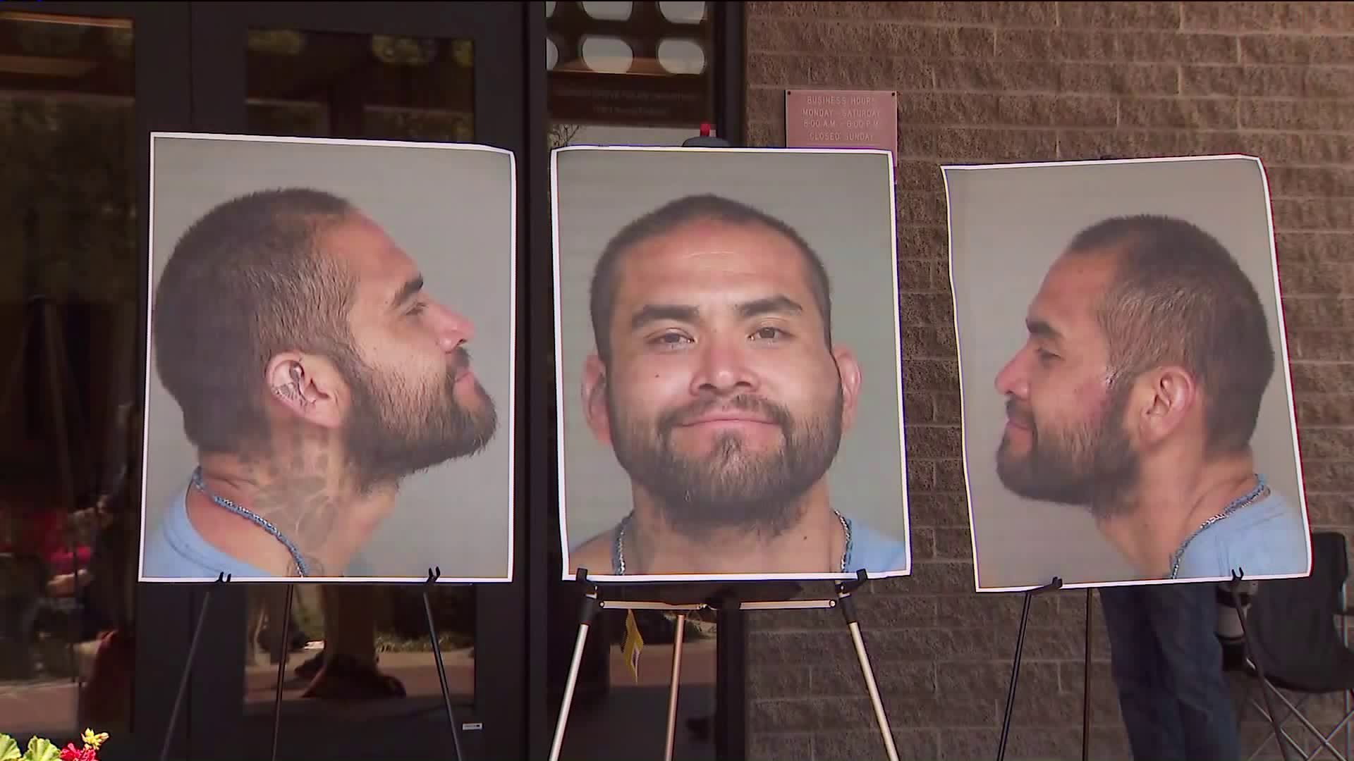Zachary Castaneda, 33, is seen during a police news conference on Aug, 8, 2019. (Credit: KTLA)