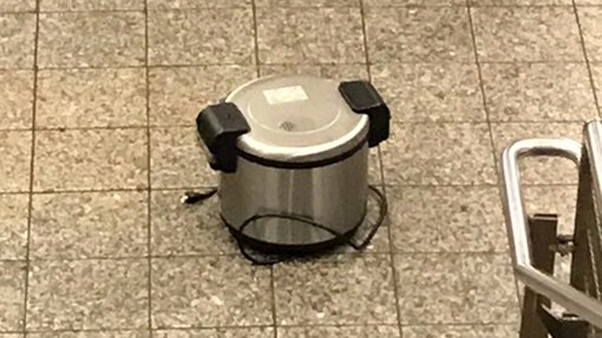 One of the suspicious devices is seen in a photo tweeted out by the New York Police Department.