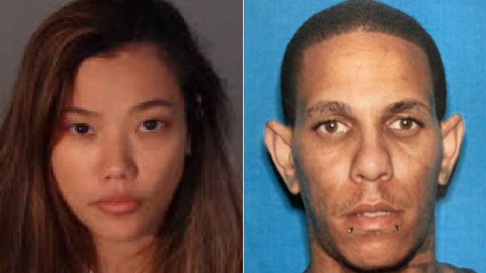 Suppatra Tansuvit, left, and Robert Carrasquillo are shown in photos released by LAPD on Aug. 19, 2019.