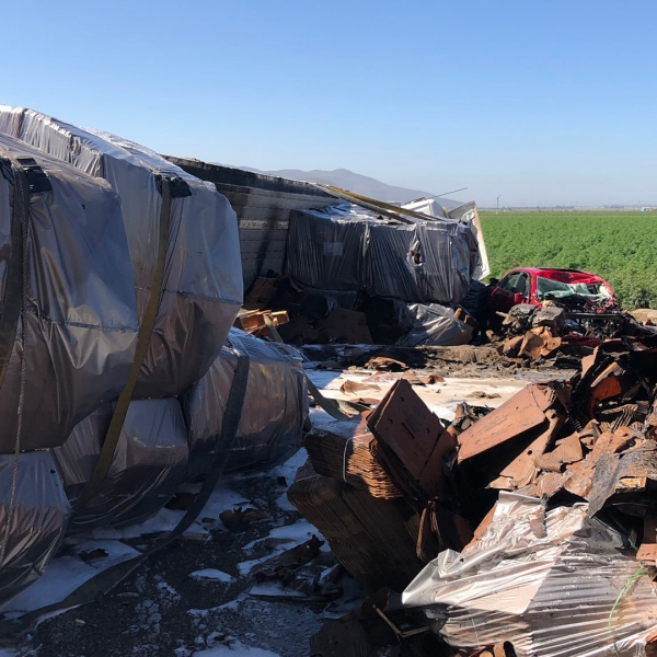 The Ventura County Fire Department released this photo of the crash site.