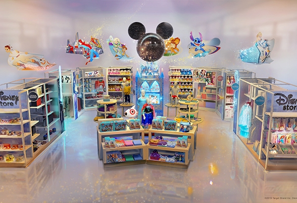 "A Disney ""shop-in-shop"" is seen in an image provided by the Target Brand Inc. and Disney on Aug. 25, 2019."