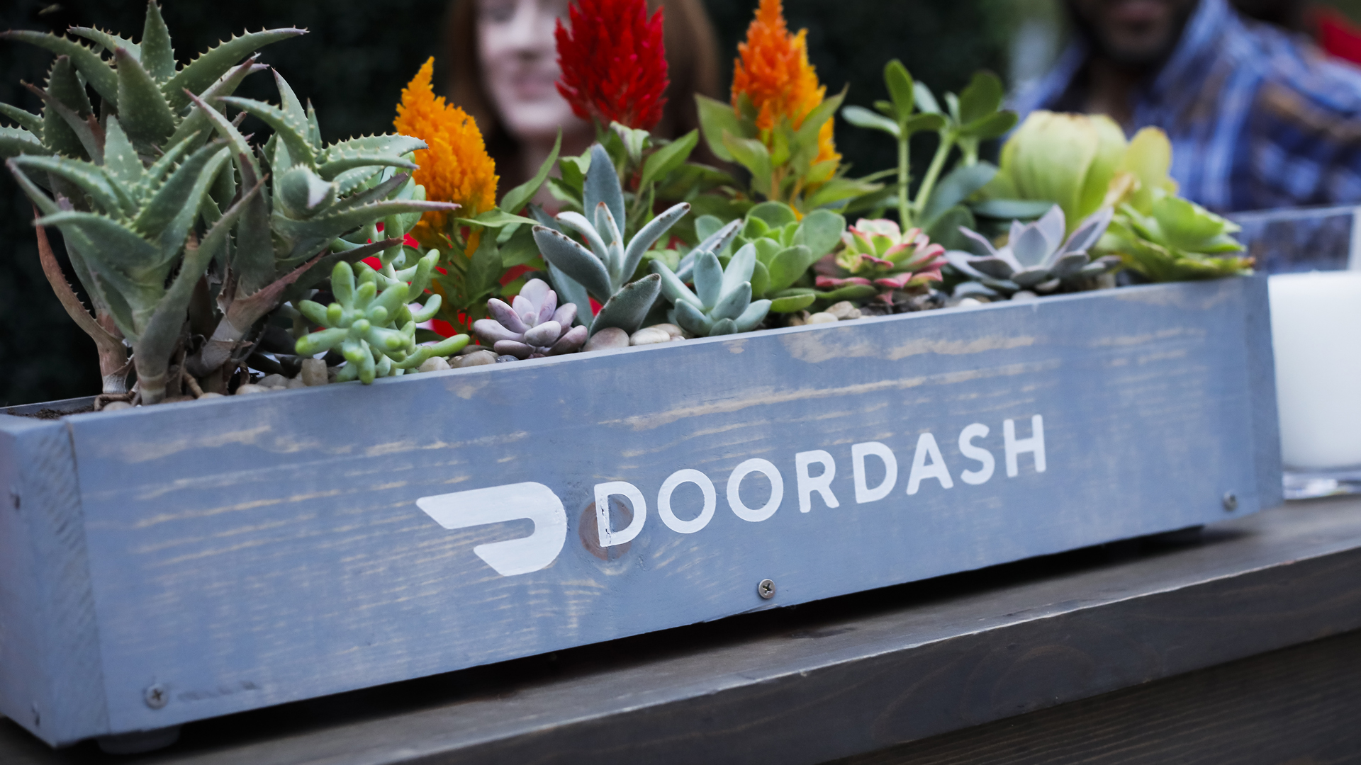 A view of general atmosphere at the DoorDash booth at 'Night Market' presented by The Los Angeles Times on May 08, 2019 in Los Angeles, California. (Credit: Tibrina Hobson/Getty Images for Los Angeles Times Food Bowl)