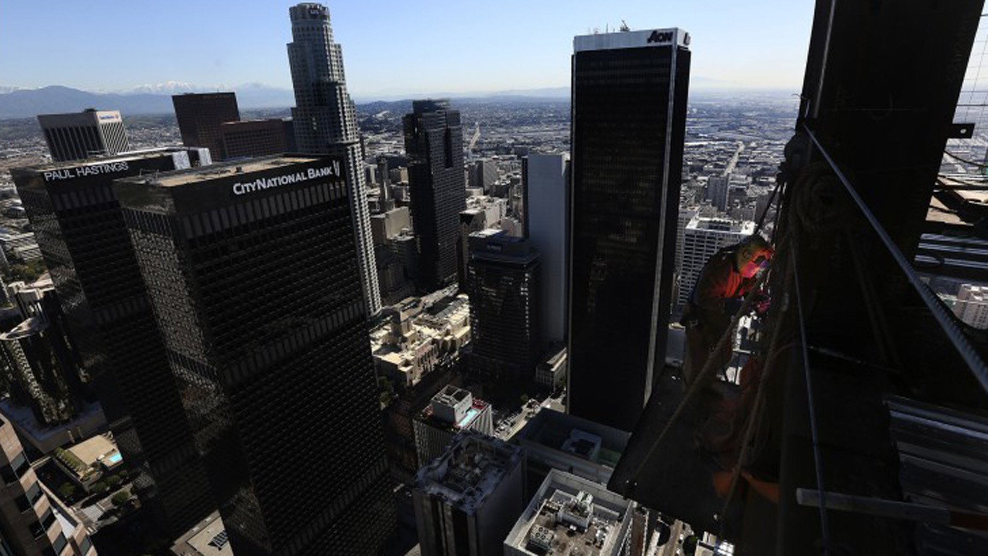A view of downtown Los Angeles is seen in an undated photo.(Credit: Mel Melcon / Los Angeles Times)