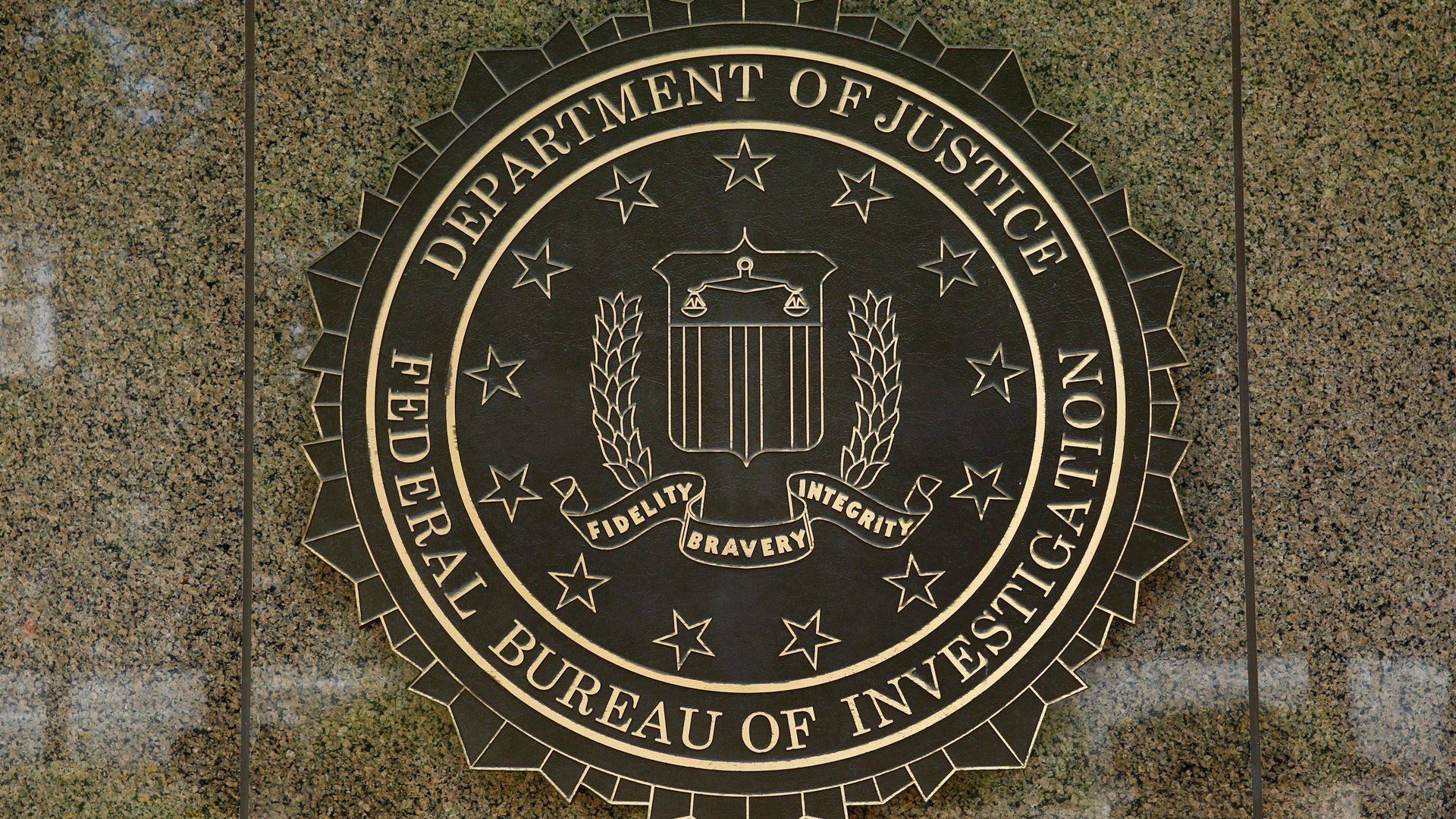 The FBI seal is seen outside the headquarters building in Washington, DC on July 5, 2016. (Credit: Yuri Gripas/AFP/Getty Images)