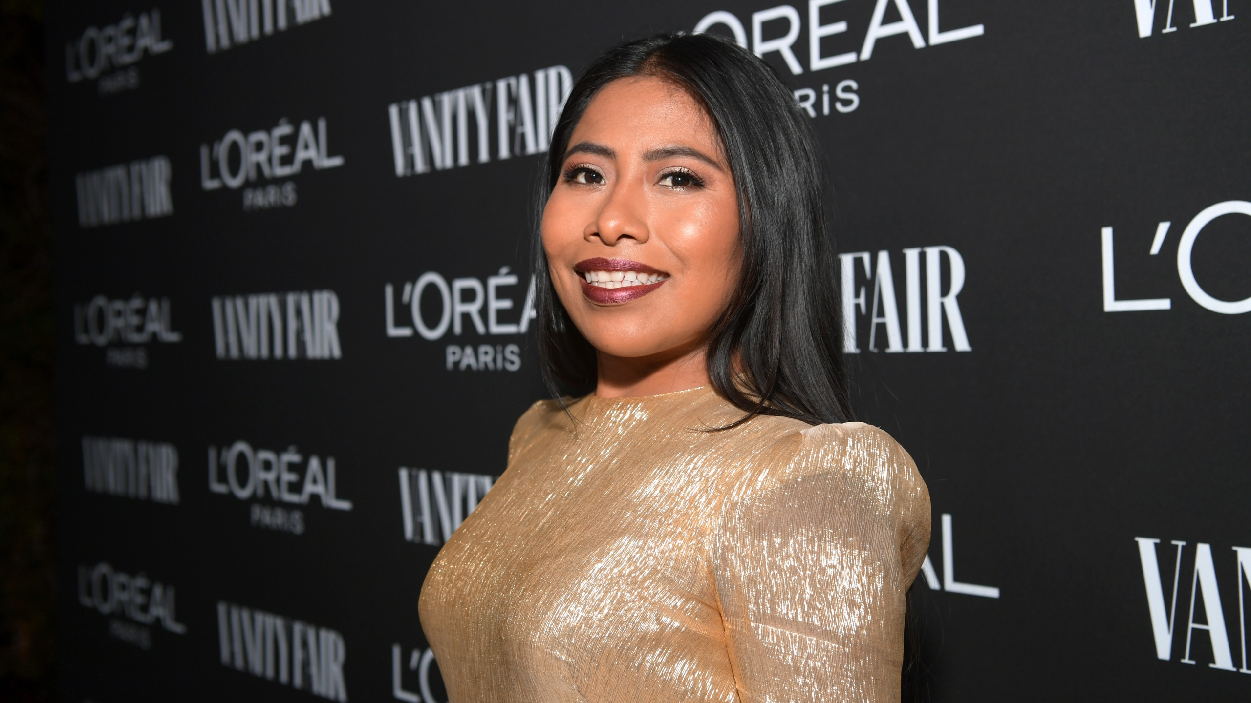Yalitza Aparicio is seen as Vanity Fair and L'Oréal Paris Celebrate New Hollywood on Feb. 19, 2019, in Los Angeles. (Credit: Emma McIntyre/Getty Images for Vanity Fair)
