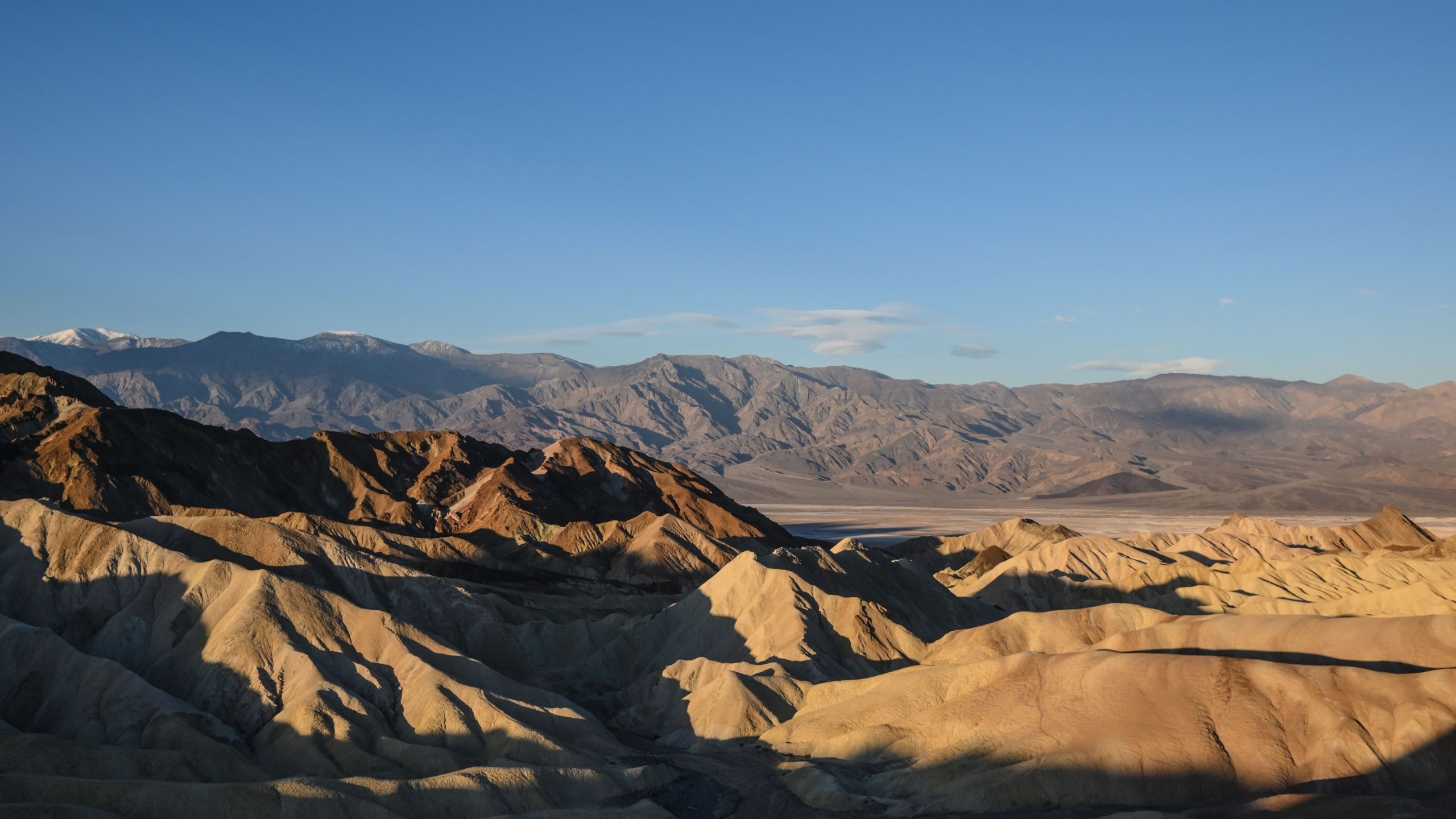 The view from Zabriskie Point in Death Valley is pictured at sunrise on Feb. 26, 2019. (Credit: Eric Baradat / AFP / Getty Images)