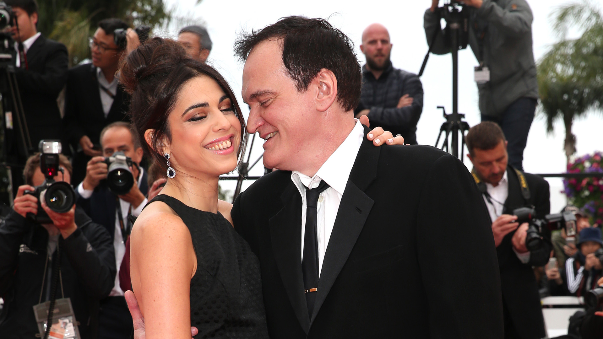 "Quentin Tarantino and his wife Daniella Tarantino attend the screening of ""The Wild Goose Lake"" during the 72nd annual Cannes Film Festival on May 18, 2019 in Cannes, France. (Credit: Gisela Schober/Getty Images)"
