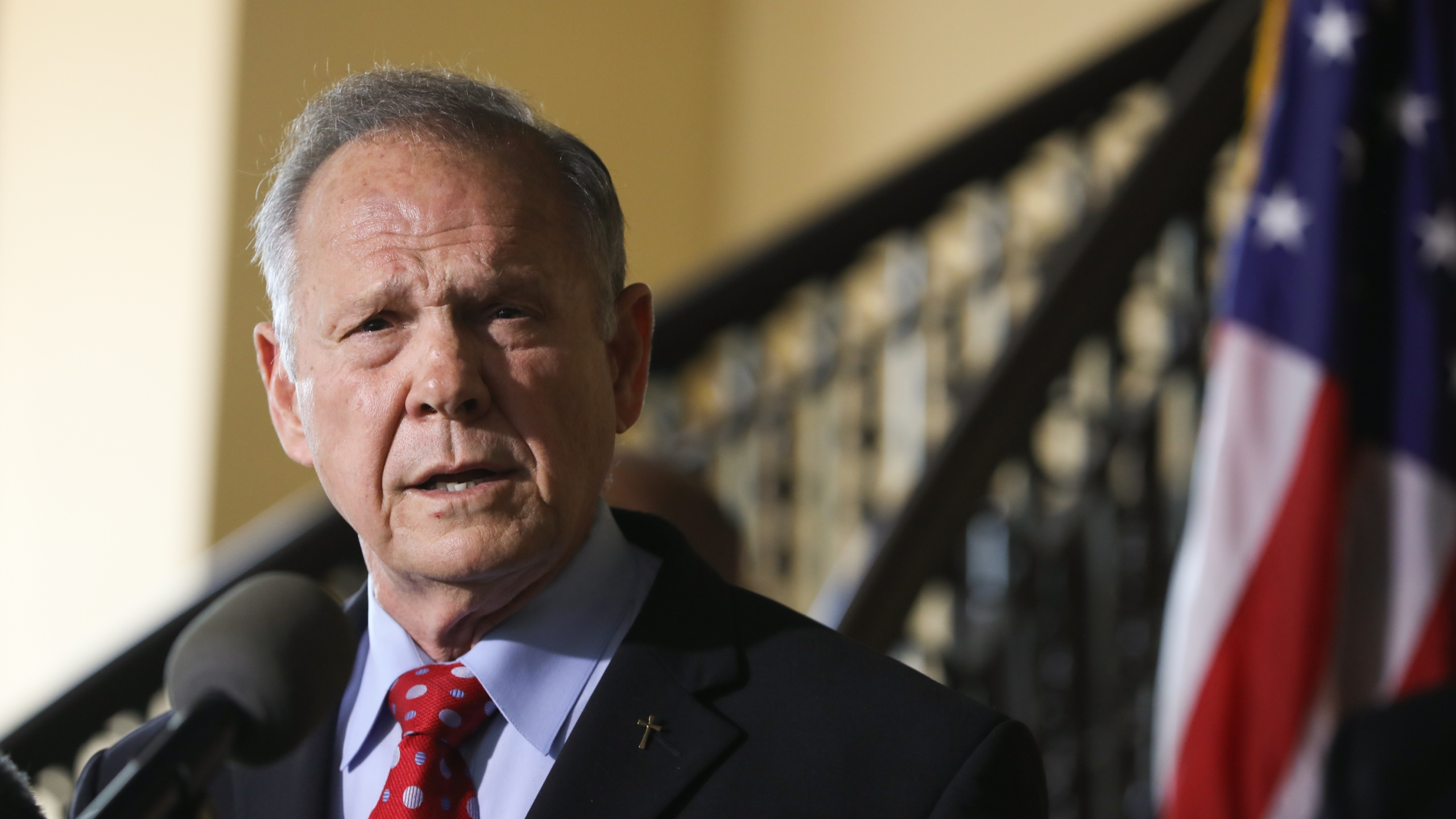 Roy Moore announces his plans to run for U.S. Senate in 2020 on June 20, 2019, in Montgomery, Alabama. (Credit: Jessica McGowan/Getty Images)