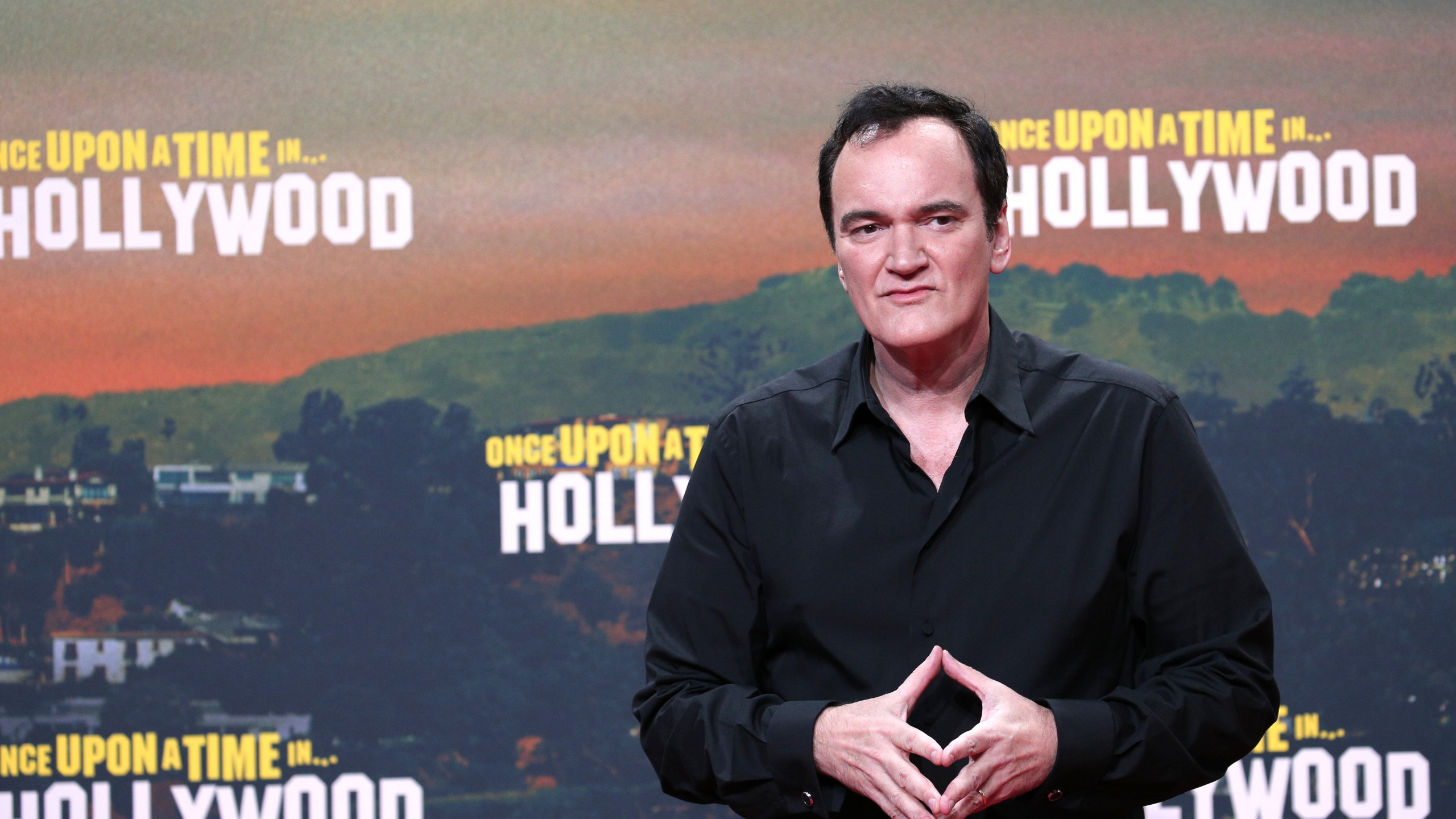 "Director Quentin Tarantino appears at the premiere of ""Once Upon A Time... In Hollywood"" at CineStar on August 1, 2019 in Berlin, Germany. (Credit: Gisela Schober/Getty Images)"