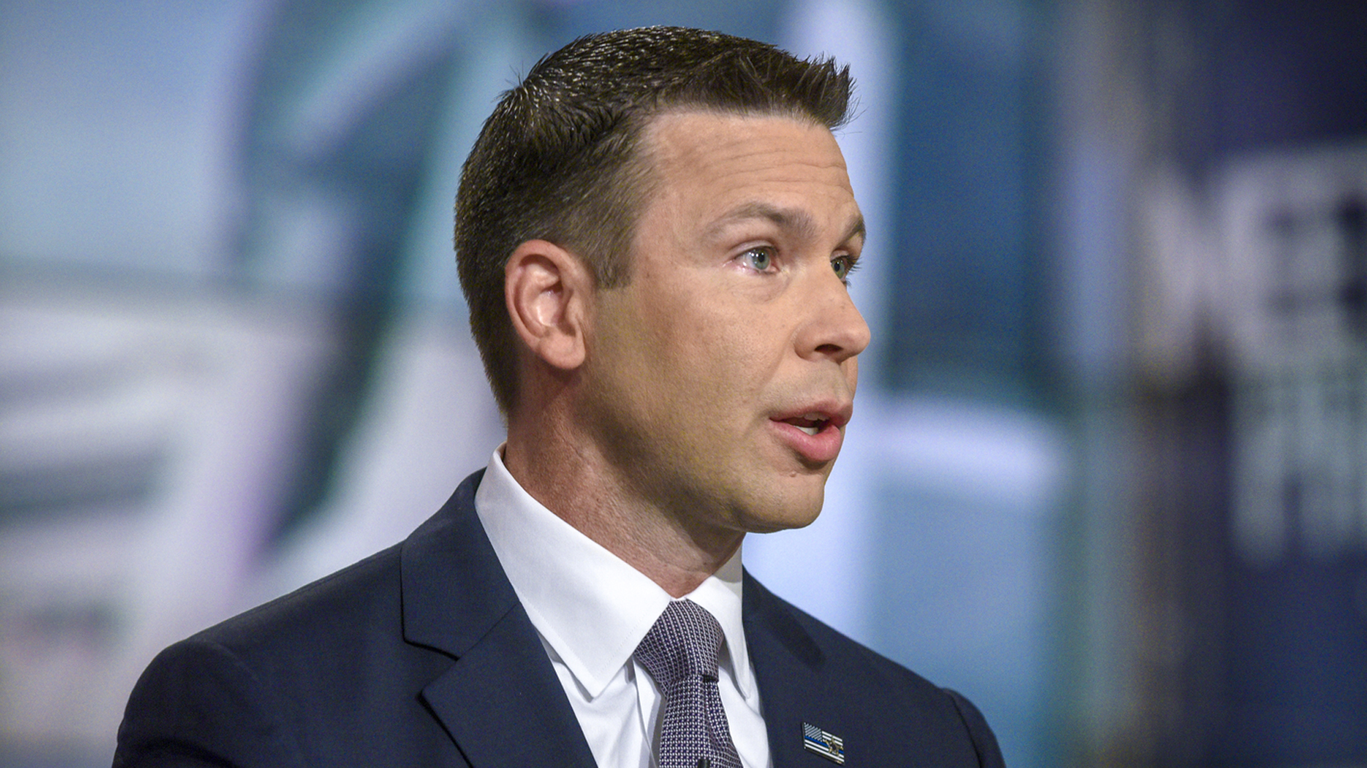 """Acting Secretary of Homeland Security Kevin McAleenan appears on """"Meet the Press"""" in Washington, D.C., on Aug. 11, 2019. (Credit: William B. Plowman/NBC/NBC NewsWire via Getty Images)"""
