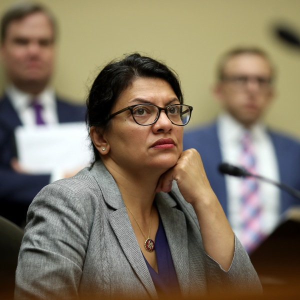 Rep. Rashida Tlaib (D-MI) listens as acting Homeland Security Secretary Kevin McAleenan testifies before the House Oversight and Reform Committee on July 18, 2019 in Washington, DC. (Credit: Win McNamee/Getty Images)